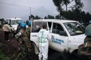 The convoy was ambushed in a dangerous part of the eastern DRC near the border with Rwanda..  By ALEXIS HUGUET (AFP/File)