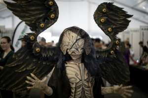The convention includes costume competitions, all-night gaming tournaments, video game launches and virtual reality experiences, as well as appearances by film and TV stars, artists and designers.  By MARCO LONGARI (AFP)