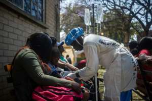 The cholera outbreak was detected in a Harare suburb earlier this month.  By Jekesai NJIKIZANA (AFP/File)