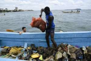 The cleanup netted 1.4 tonnes of rubbish -- a welcome initiative but one that barely dents Senegal's plastic problem.  By SEYLLOU (AFP)