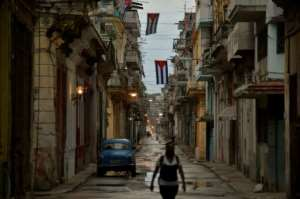 The Cuban government suspended May Day celebrations on the island, normally marked by the country's largest annual march, due to the coronavirus pandemic.  By YAMIL LAGE (AFP)