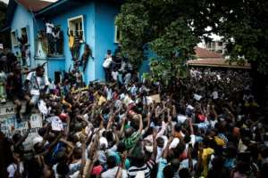 The announcement of Felix Tshisekedi's purported victory in DRC's presidential elections brought Fayulu supporters onto the streets in protest in Kinshasa and elsewhere.  By John WESSELS (AFP)