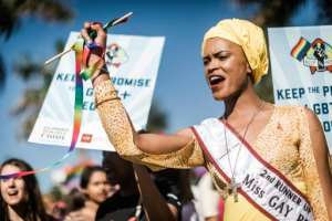 The annual Gay Pride Parade in Durban. Campaigners say South Africa is a haven in a continent where anti-gay laws are often strict and stigma and discrimination are entrenched. By RAJESH JANTILAL (AFP/File)