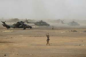 The accident involved one of the French military's Tiger attack helicopters.  By Daphné BENOIT (AFP)