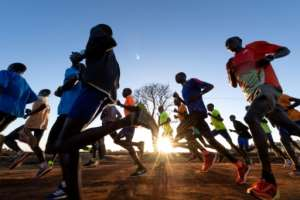 The altitude and the high level of training has attracted elite runners from around the world to the Kenyan camps. By FRANCK FIFE (AFP)