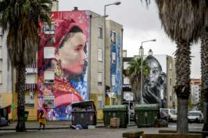 The artworks now attract hundreds of visitors.  By PATRICIA DE MELO MOREIRA (AFP)