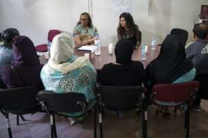 The Association for the Fight Against AIDS organises workshops for HIV patients in Morocco.  By FADEL SENNA (AFP)