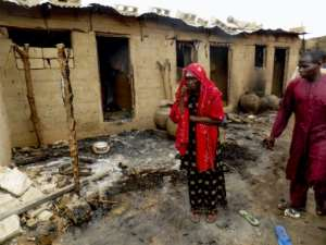 The attack targeted Dalori Kofa village in northeast Nigeria which adjoins a camp for thousands of people displaced by Boko Haram violence