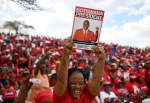 The Botswana Democratic Party (BDP) has ruled the country unfettered since its independence from Britain in 1966.  By Monirul Bhuiyan (AFP)