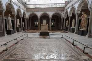 The Bardo museum in Tunis, which was hit by a jihadist attack in 2015 targeting tourists, has been emptied of visitors due to the novel coronavirus pandemic.  By FETHI BELAID (AFP/File)