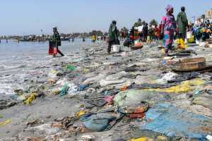 The beach at Dakar's Hann Bay gives an idea of Senegal's problem with waste.  By Seyllou (AFP)