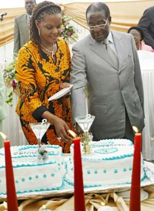 The birthday parties always stirred controversy over their budget -- estimated in later years at between $500,000 and $1 million.  By DESMOND KWANDE (AFP/File)