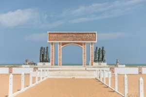 'The Door of No Return': a memorial on Ouidah beach devoted to slaves who never returned to Africa.  By Yanick Folly (AFP)