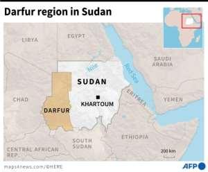 Map locating Darfur region in Sudan..  By  (AFP)