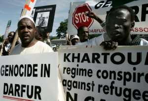The Darfur war fulled accusations of genocide.  By ALEX WONG (Getty Images North America/AFP/File)