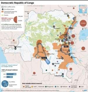 The Democratic Republic of Congo.  By Dario INGIUSTO (AFP)