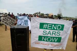 The #EndSARS rallying cry has trended on social media and drawn support from high-profile celebrities in Nigeria and abroad.  By PIUS UTOMI EKPEI (AFP)