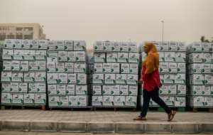 The Egyptian Food Bank has been at the forefront of a public relief effort but the demand to alleviate the suffering of the working poor is at an all-time high.  By Mohamed el-Shahed (AFP)
