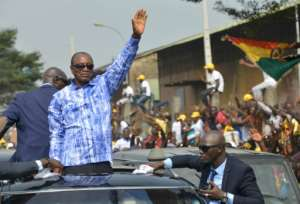 The former opposition leader became Guinea's first democratically elected president in 2010 and was returned to office by voters in 2015.  By CELLOU BINANI (AFP/File)
