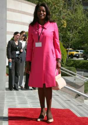 The former air hostess owns shares in many private companies.  By Angela Weiss (GETTY IMAGES NORTH AMERICA/AFP/File)
