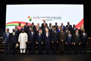 The first UK-Africa Investment Summit in London involved 16 national leaders and representatives of another five countries.  By Ben STANSALL (POOL/AFP)
