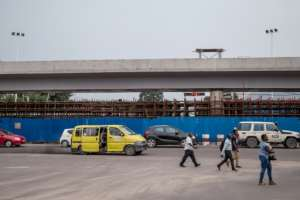 The flyovers are due to be ready by the end of May.  By Junior KANNAH (AFP/File)