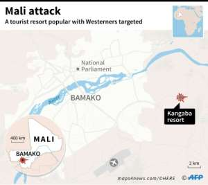 The Kangaba Le Campement resort targeted in a suspected jihadist attack lies to the east of Bamako