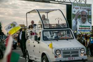 The high point of Francis' visit will be a huge mass on Sunday attended by crowds of 800,000.  By RIJASOLO (AFP)