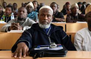 The institute draws trainee imams from France and several other African countries as well as Morocco with its call for a moderate Islam. By FADEL SENNA (AFP)