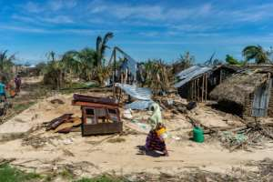 The island on the Quirimbas archipelago off Mozambique's northeastern coast was one of the regions worst hit when Cyclone Kenneth struck last month. By Zinyange Auntony (AFP)
