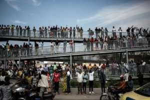 The onetime oil industry executive was greeted by large crowds as he took his challenge to DRC's rulers round the country..  By John WESSELS (AFP/File)