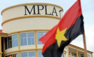 The office of the ruling MPLA party in Cabinda, an oil-rich enclave physically separated from Angola by a narrow strip of land that gives the Democratic Republic of Congo access to the sea.  By ISSOUF SANOGO (AFP/File)