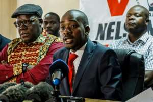 The opposition Movement for Democratic Change (MDC) claims that Chamisa is the rightful president and that the July 30 election was rigged.  By Jekesai NJIKIZANA (AFP/File)