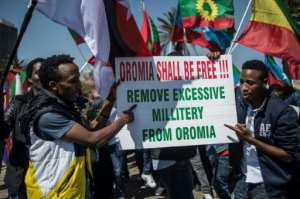 The Oromo protests led to the declaration of a state of emergency.  By GULSHAN KHAN (AFP/File)