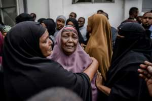 The loved ones of victims are in mourning after 21 people were killed in an Islamist attack claimed by the Al-Qaeda-linked Somali group Al-Shabaab.  By Luis TATO (AFP/File)