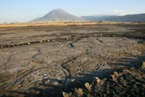 The largest group of human footprints ever found in Africa - discovered at a site called Engare Sero, south of Tanzania's Lake Natron - offers a glimpse at what humans in the so-called Late Pleistocene period looked like.  By Cynthia LIUTKUS-PIERCE (COURTESY OF CINTHYA LIUTKUS-PIERCE/AFP)