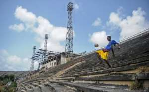 The last football match played at the national stadium in Mogadishu, which has a capacity of 6,000, was in 2003.  By Mohamed ABDIWAHAB (AFP)