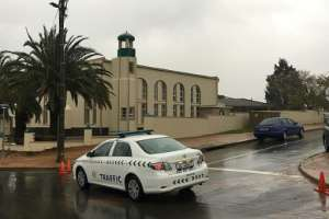 The motive for the attack, in  the town of Malmesbury near Cape Town, remained unclear.  By RODGER BOSCH (AFP)