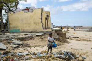 The mortality burden of climate-related catastrophes such as storms, flooding and heatwaves is overwhelmingly borne by developing countries.  By KAREL PRINSLOO (UNCDF/AFP/File)