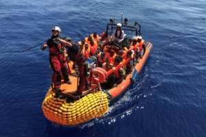 The migrantshave been plucked from boats in the Mediterranean this month with weather conditions encouraging more departures from Libya.  By Anne CHAON (AFP/File)