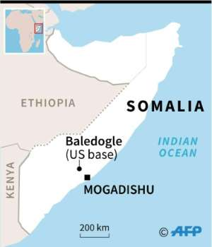 The militants hit the US base at Baledogle, about 110 kilometres northwest of Somalia's capital Mogadishu.  By AFP (AFP)