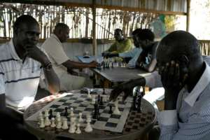 The Munuki Club in South Sudan's capital Juba draws a wide range of players, from doctors to students and even ambassadors. By SIMON MAINA (AFP)