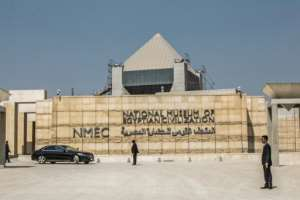 The National Museum of Egyptian Civilization in Cairo, the new resting place for the 22 mummies.  By Khaled DESOUKI (AFP/File)