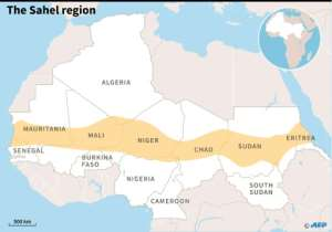 The Sahel region. By AFP Graphics (AFP/File)