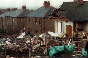 The scene of devastation caused by the 1988 Lockerbie attack.  By ROY LETKEY (AFP/File)