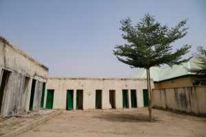 El recinto escolar ahora está prácticamente desolado.  Kola Solomon (AFP)