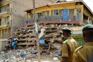 The seven-storey building which collapsed in Nairobi was reportedly built in 2007 without planning permission or approval