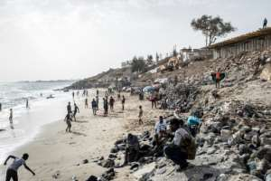 The seaside hill in Dakar is one of a pair known as the