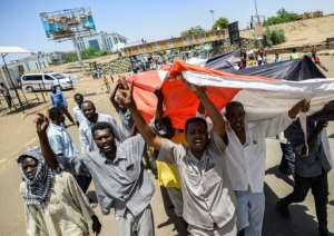 The sit-in has lasted since April 6, and despite the ouster of president Omar al-Bashir protesters are refusing to leave until a civilian transition government is set up. By Mohamed el-Shahed (AFP)