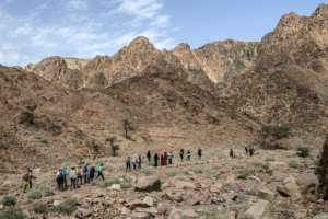 The Sinai's rugged scenery has long been popular with hikers, but lack of security has decimated Egypt's tourism industry. By Khaled DESOUKI (AFP)